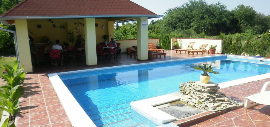 Veliki bazen za goste vile sa terasom